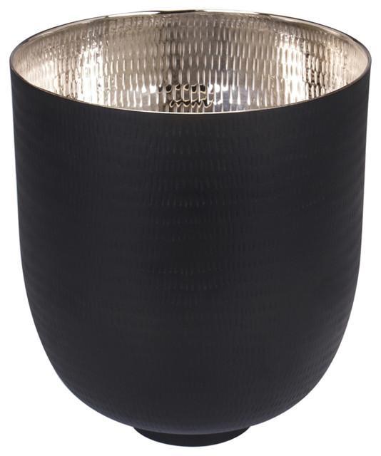 Black Kaas Au Carré Medium Decorative Bowl, Bright Silver