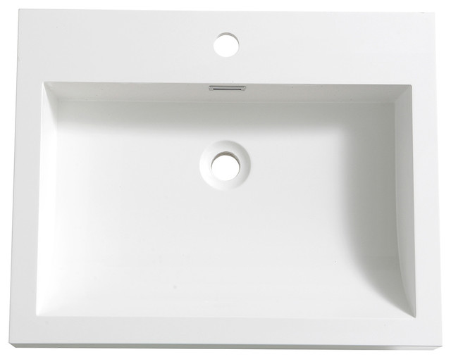 "Fresca Alto 23"" White Integrated Sink/countertop."