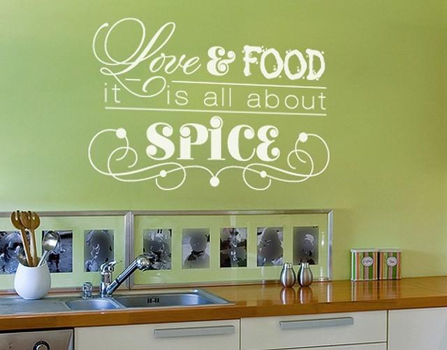 love & food kitchen wall decals, sticker, mural vinyl art home decor