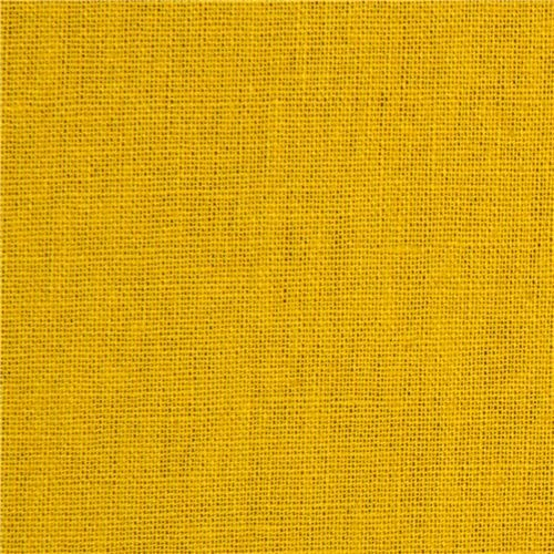 Mustard Coloured Echino Canvas Fabric From Japan View
