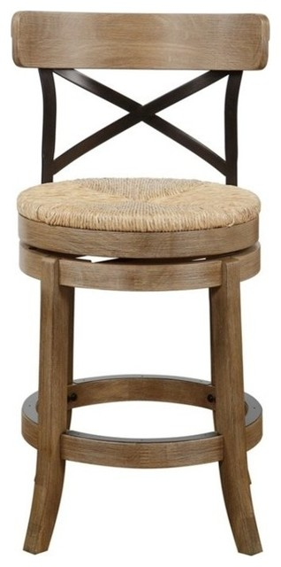 Myrtle Counter Stool Wire Brushed Finish Beach Style
