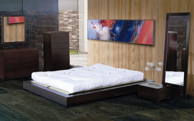 Zen Bedroom Set (Full) Contemporary Bedroom Furniture Sets