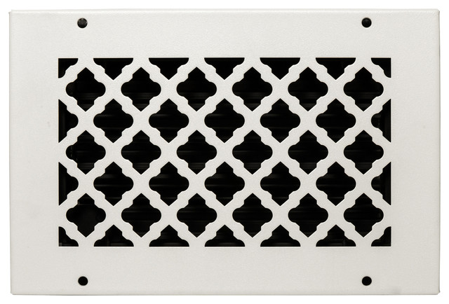 """Solid Steel Return Vent Cover, White, Fits Duct Opening 10""""x6""""."""