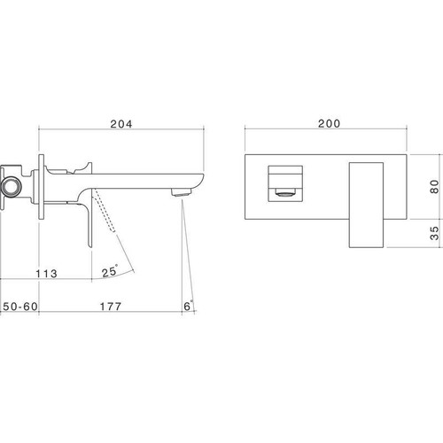 Is there a standard approach. Bathroom wall mounted mixer tap placement