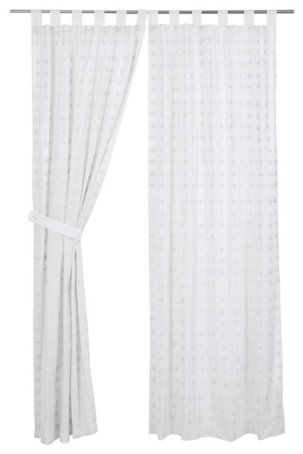 Willow Tab Top Panel, White, 84x40, Set Of 2.