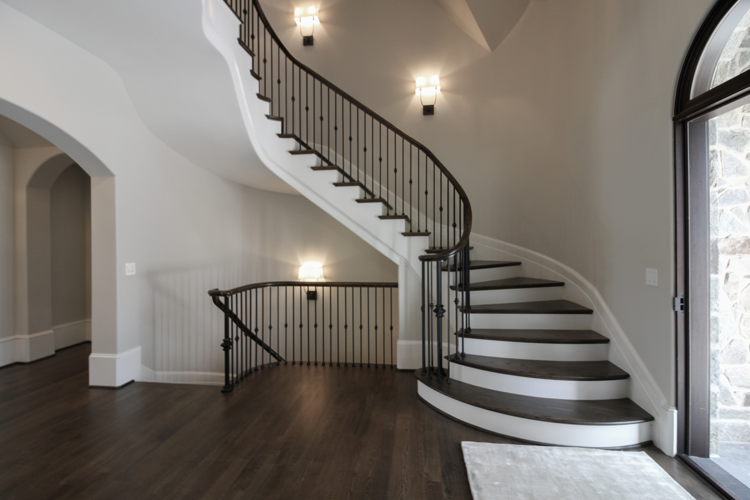86_ Gorgeous Floating Curved Staircase, McLean VA 22066