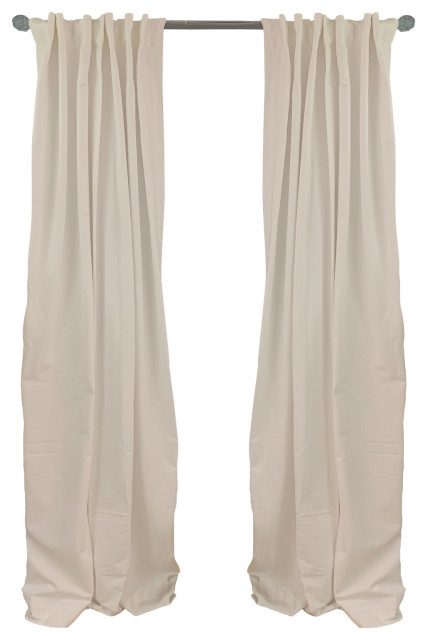 Ivory Solid Color Curtain Panel Pair