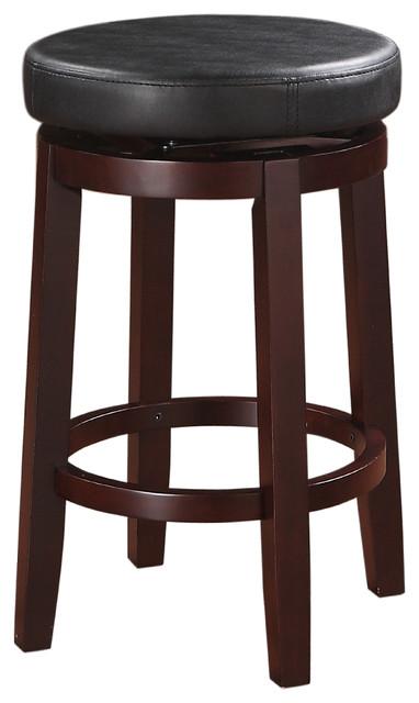 Linon Home Decor Products Maya Black 24 Quot Counter Stool
