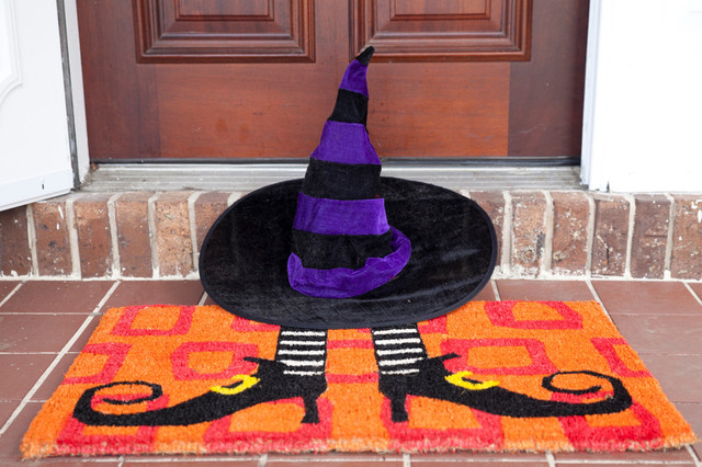 Wicked Witch&x27;s Shoes Hand Woven Coconut Fiber Doormat.