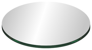 """33"""" Round Glass Top 1/4"""" Thick With Flat Polish Edge"""