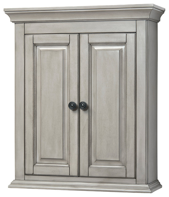 "Corsicana 24"" Antique Gray Wall Cabinet - Transitional - Bathroom Cabinets And Shelves - by Foremost"