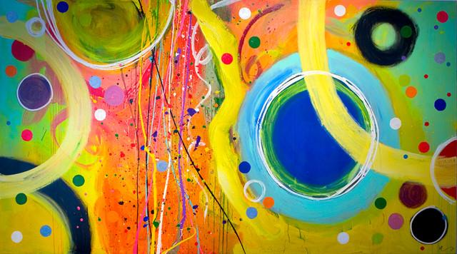 """Filippo Ioco """"Carnival"""", 60""""x108"""" Original on Canvas"""