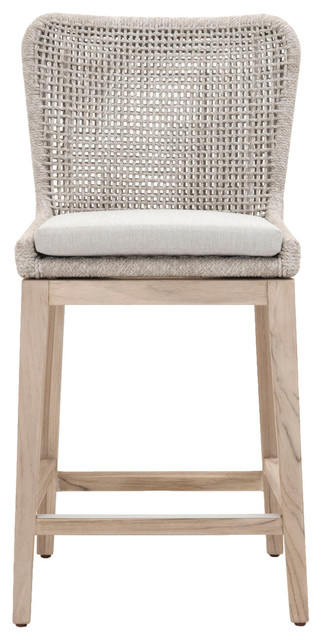 Fine Mesh Outdoor 26 Counter Stool Taupe White Flat Rope Ibusinesslaw Wood Chair Design Ideas Ibusinesslaworg