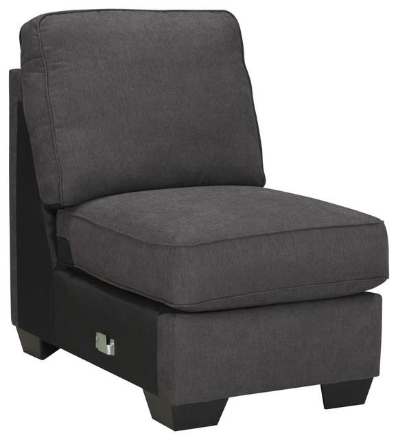 Alenya Armless Chair Quartz Transitional Sectional