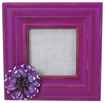 Flower Frame - Rustic - Picture Frames - by Drew Derose Designs
