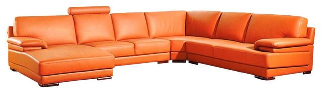 Divani Casa 2227 Modern Leather Sectional Sofa.