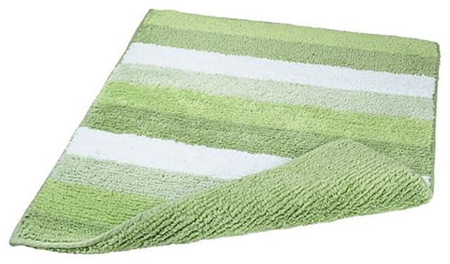 Fern Green Unique Reversible Cotton Bathroom Rug Summer