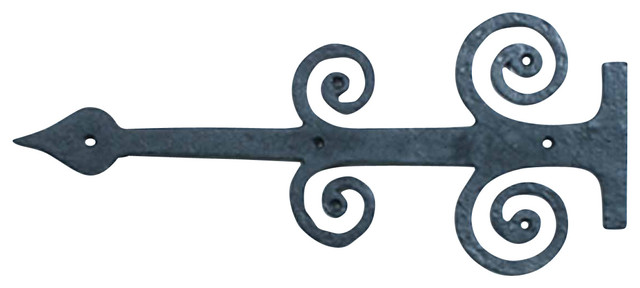 """Door Hinges Black Iron Decorative Hinge Plate 16""""Wx7""""H - Traditional - Hinges - by Renovator's ..."""