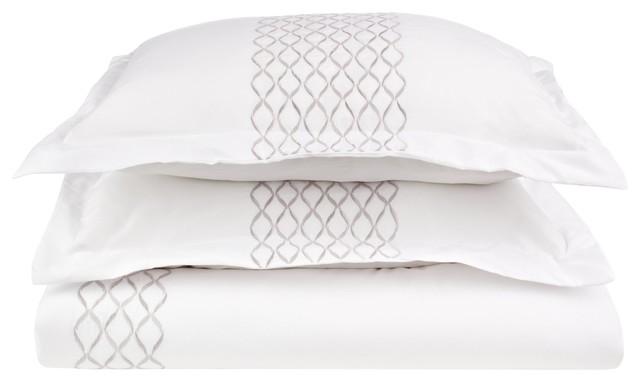 white twin duvet cover Hannah (Microfiber) 2 Piece Twin Quilt Set, White/Gray   Duvet  white twin duvet cover