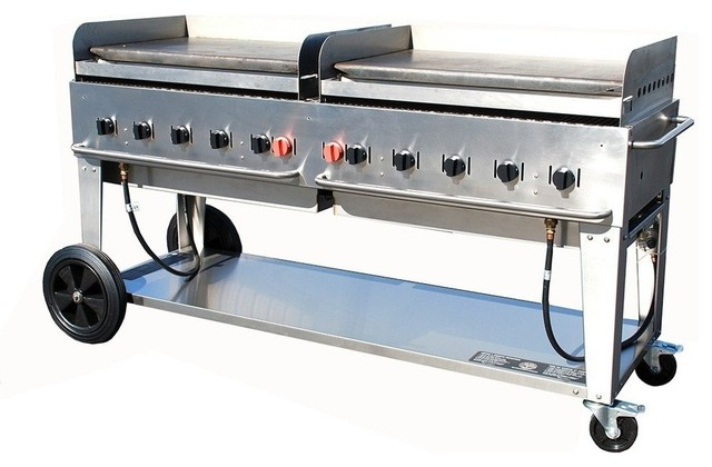 "Crown Verity Mg-72 Portable Outdoor Griddle, 72""."