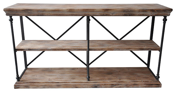 La Salle Metal And Wood Console - Industrial - Buffets And Sideboards - by Fratantoni Lifestyles