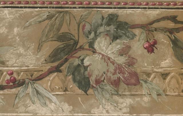 Fl Cherry Blossom Flowers Wallpaper Border For Kitchen Bathroom Living Room