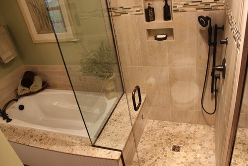 What are the dimensions of the tub shower Bathroom remodeling akron ohio