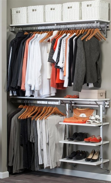 Closet System With Adjustable Shelves In White, 52 In. W X 11.75 In. D X 84 In..