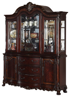 Homelegance Deryn Park Buffet And Hutch In Cherry   Traditional   China  Cabinets And Hutches   By Beyond Stores