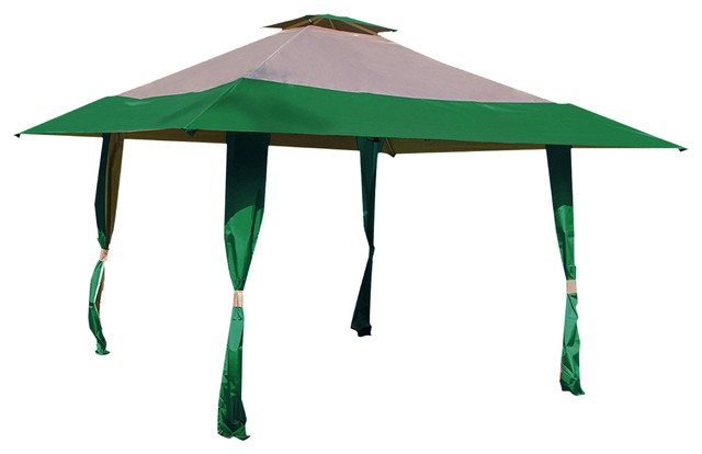 Outdoor Patio Double Roof Gazebo Canopy Tent For Party, Hunter Green.