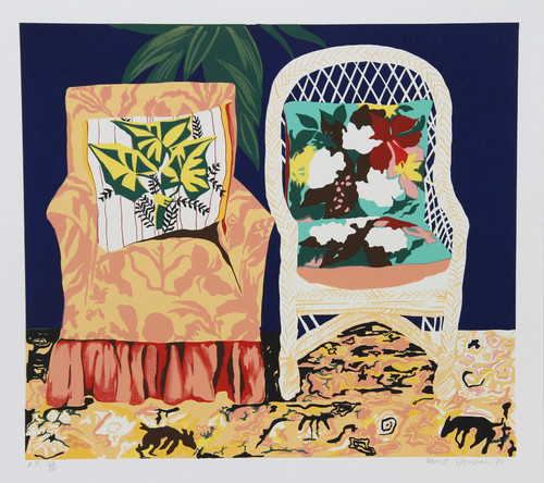 Hunt Slonem, Chair Duet, Serigraph