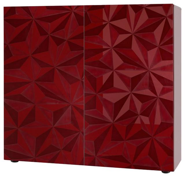 Prisma Decorative Highboard, Red