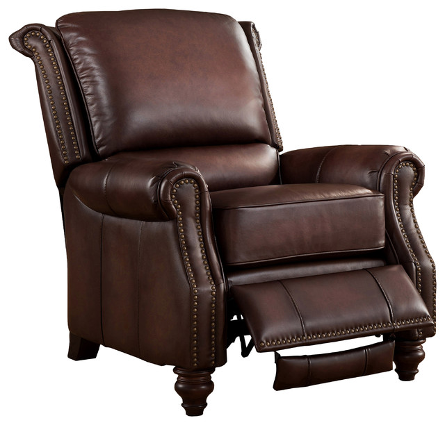 Amax Leather Churchill Top Grain Leather Recliner Chair