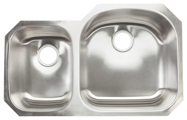 hahn chef series 30-70 double bowl sink - traditional - kitchen