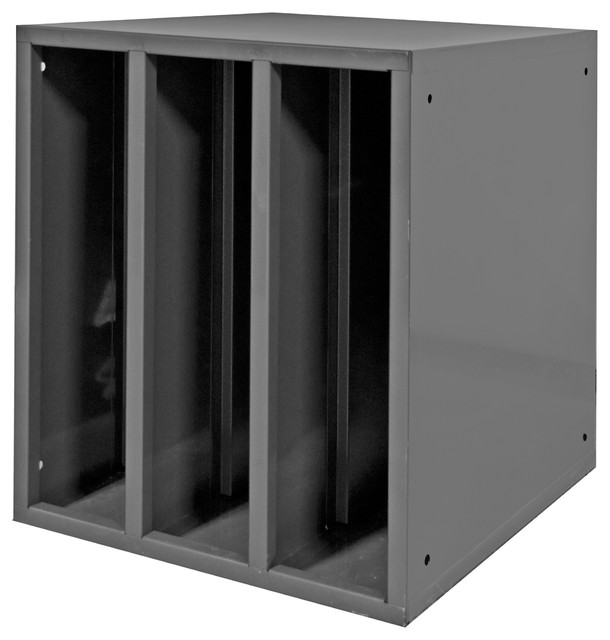 Durham Heavy Duty Hydraulic Hose Cabinet With 2 Dividers, Gray.