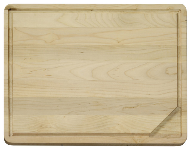 Vance Large Reversible Hardwood Cutting Board With Gravy Groove & Well.