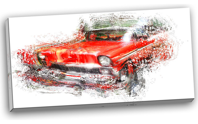 orange classic car canvas painting modern kids toys and games