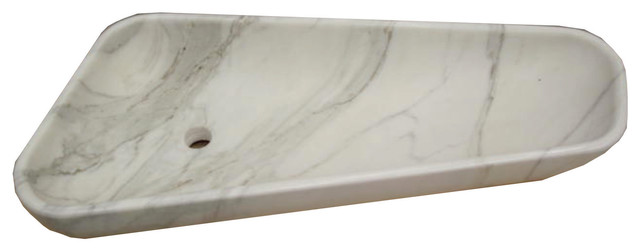 Handcrafted freestanding Calacatta Gold marble sink (Made in Italy ...