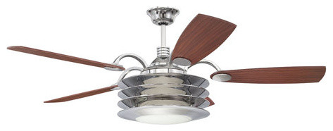 ellington fans rousseau modern indoor 5 blade 54 quot ceiling fan with light kit and contemporary