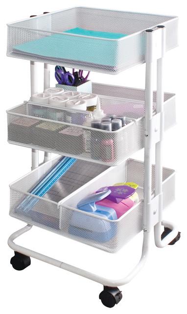 Bon Craft Cart, White