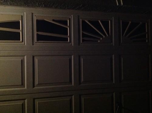How Do I Remove Plastic Sunbust From Garage Door Window