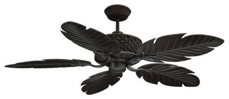 Pineapple Outdoor Fans In Aged Bronze Tropical Ceiling Fans