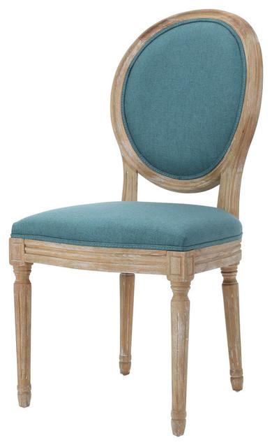 Merveilleux GDF Studio Hawthorne Fabric Dining Chairs, Dark Teal, Set Of 2