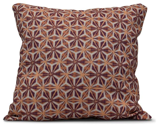 "Water Mosaic, Geometric Print Pillow, Purple, 18""x18"""