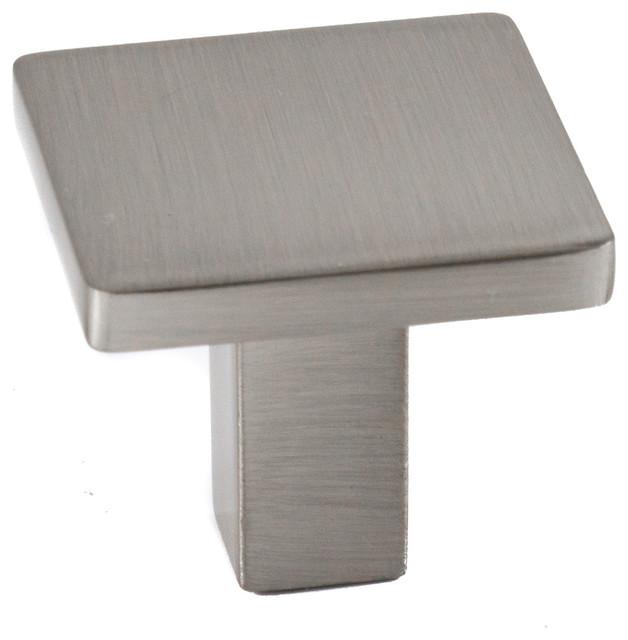 Celeste Square Knob Cabinet Knob Brushed Nickel Solid Zinc