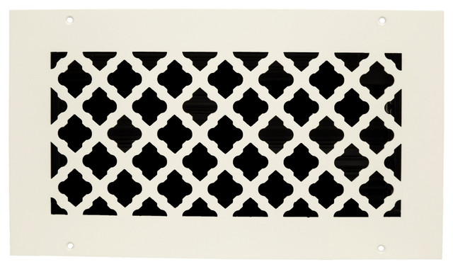 Steel Crest Basic Series Tuscan White Wall/ceiling Register, 14x8.