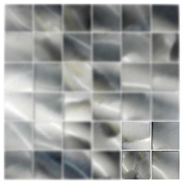 Silver Aluminum Mosaic Tile Accent, Sample