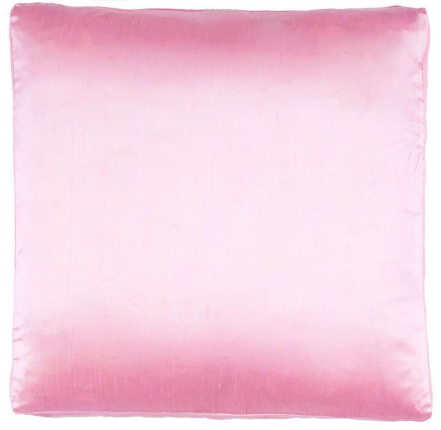Silk Dupioni Solid Box Pillow, Pink.