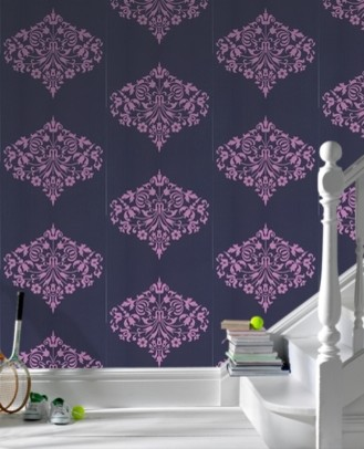 Amy Butler Fountain Lilac eclectic wallpaper