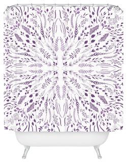 "Iveta Abolina Lavender MazeShower Curtain, W 69"" X L 90"""